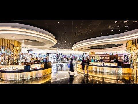 Walking thru Dubai airport Duty Free shopping mall..Luxury shopping...