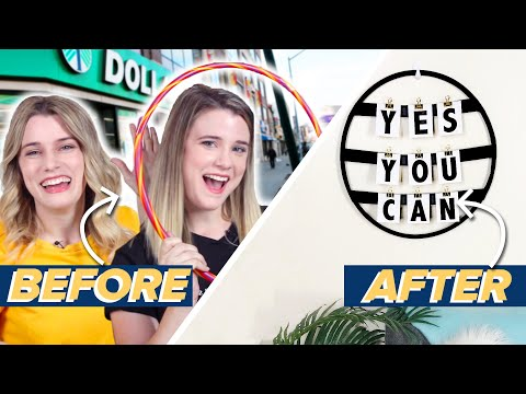 We Try Making DIY Decor From $1 Hula-Hoops • Dollar Store Wars