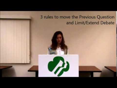 Parliamentary Procedure: Subsidiary Motions