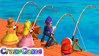Mario Party 9 - Pier Pressure w/ other Minigames Gameplay