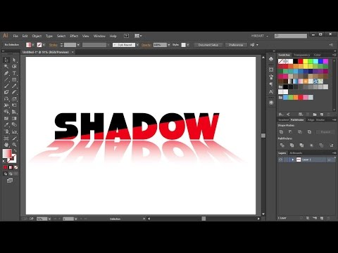 How to Add a Shadow to Text in Adobe Illustrator