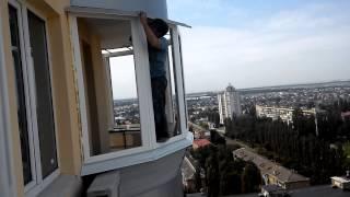 Монтаж выносного круглого балкона (044) 23-212-23(, 2014-08-22T14:44:25.000Z)