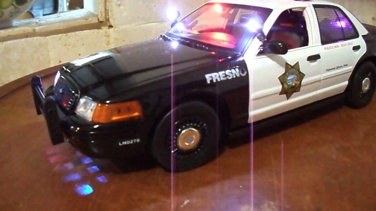 1/18 Fresno, California Diecast Police Car Lights and Siren WWW PO-LIGHT COM