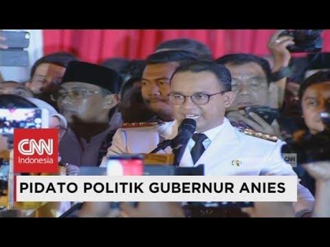 Image of FULL - Pidato Politik Perdana Gubernur Anies Baswedan di Balai Kota - Pelantikan Anies Sandi