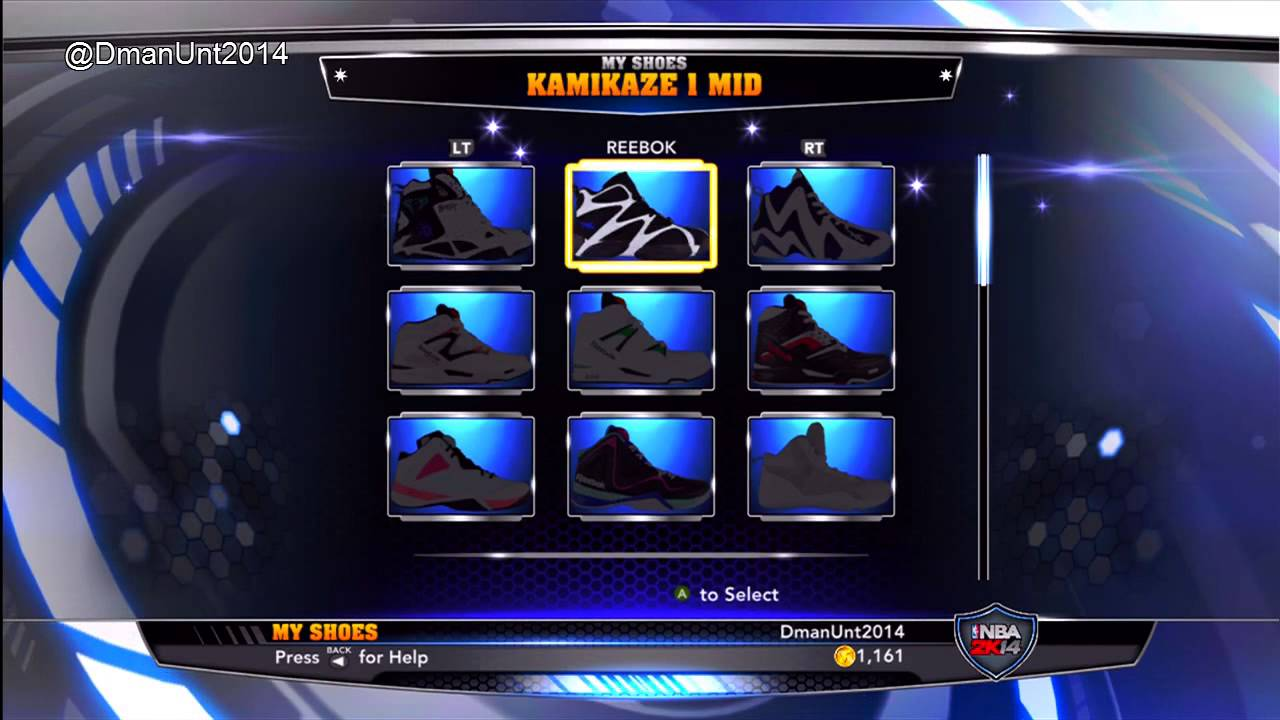 NBA 2K14: Every Shoe In NBA 2K14 - Adidas, Reebok, Converse, and more!