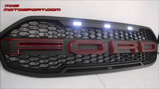 V1234 Ford Endeavour Everest 3D LED Raptor Grill  2015 +by Mxsmotosport