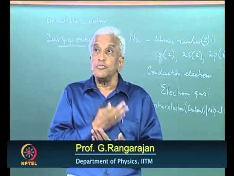 Mod-01 Lec-9 The Free Electron Theory of Metals