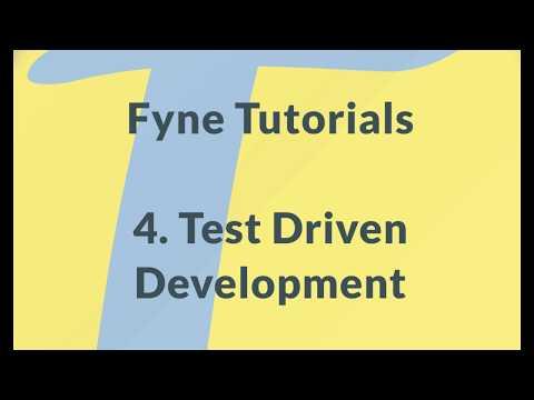 Fyne GUI Tutorial 4: Test Driven Development thumbnail