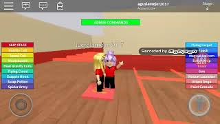 Playing with my sister roblox escape the gim