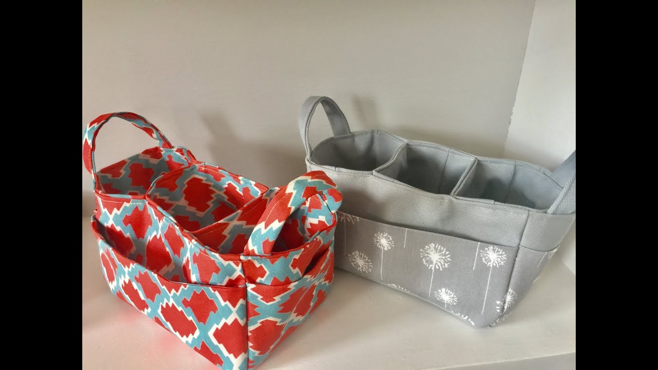 How to sew a three way divided organizer caddy - YouTube