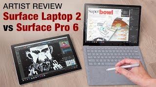 Surface Laptop 2 vs Surface Pro 6 (artist review)