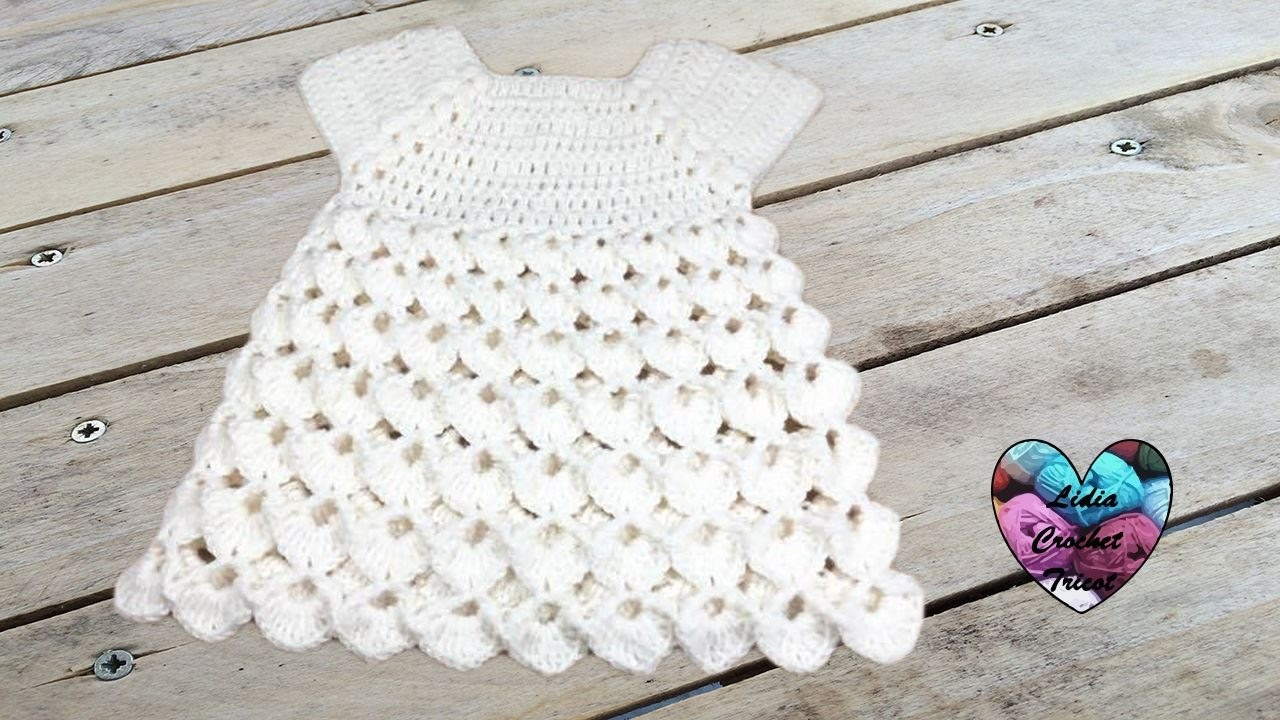 Robe point en relief crochet toutes tailles / Dress all sizes ...