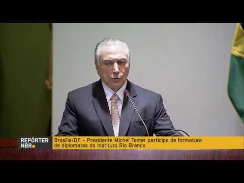 Presidente Michel Temer participa da formatura de diplomatas do Instituto Rio Branco
