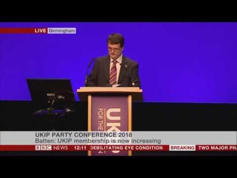 UKIP Leader Gerard Batten Full Speech at 2018 UKIP Conference