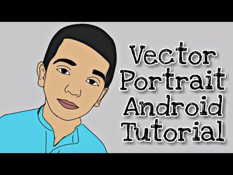 How to Make Vector portrait (Cartoon) in Android - Adobe illustration Draw HD Tutorial