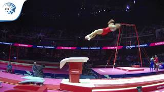 Ondrej KALNY (CZE) - 2018 Artistic Gymnastics Europeans, junior vault final