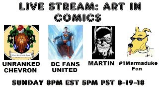 LIVE STREAM: ART IN COMICS AND IN SOCIETY