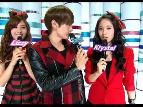【TVPP】 Krystal (f(x)) - Special MC with Lizzy& Eun hyuk, 크리스탈(에프엑스) - 스페셜 엠씨 @ Show! Music Core Live