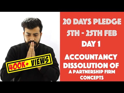 Day- 1 Dissolution of the Partnership Firm - Theory - class 12th #20dayspledge #commercebaba