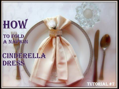 napkin-folding:-a-napkin-cinderella-dress