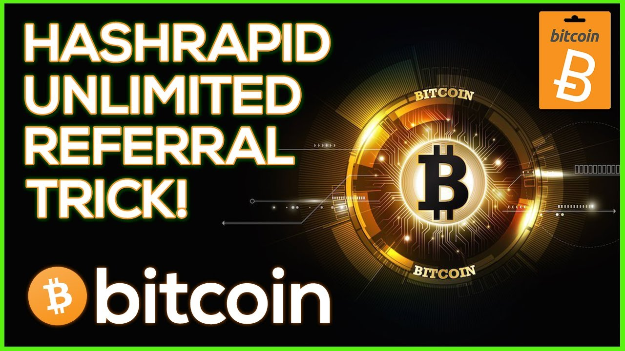 Hashrapid Unlimited Referral Trick! | Free Bitcoin Cloud Mining Site  ✔