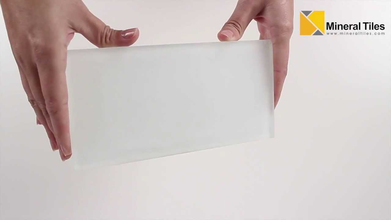 Ocean glass tile white frosted 2x2 and subway 4x8 youtube dailygadgetfo Choice Image