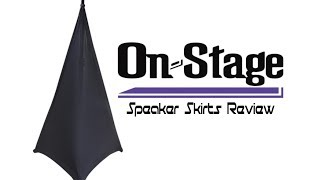On-Stage SSA100B Speaker Skirts Review