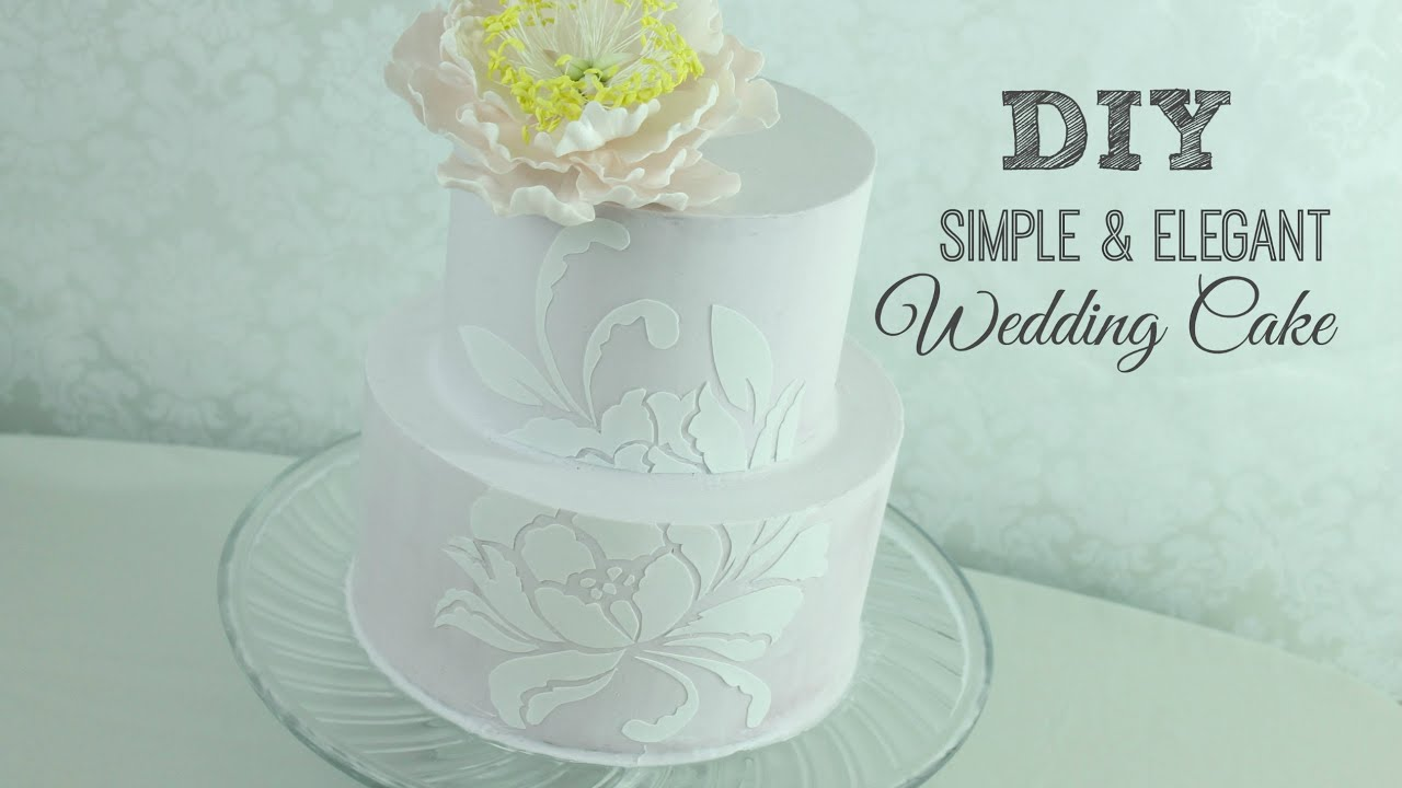 DIY Simple U0026 Elegant Wedding Cake   YouTube