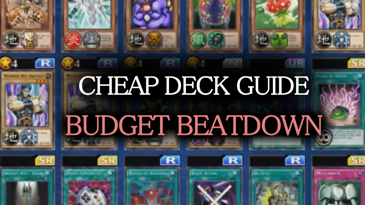 Yu Gi Oh Duel Links Deck Cheap Building Guide 1 Beatdown