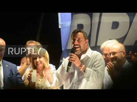 Italy: Salvini calls for fresh elections saying coalition failed