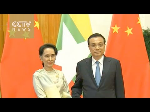Premier Li meets Suu Kyi in Beijing, cooperation agreements signed by two sides