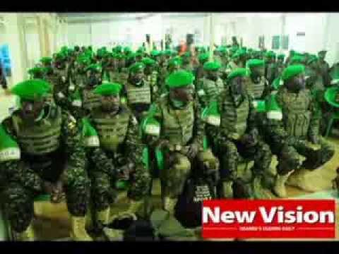 Uganda changes troops in Somalia