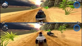 Beach Buggy Racing | Split Screen 2 Player Race | DJAK47 Tha Hustler Vs. Friend