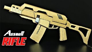 How To Make A Fully Automatic Cardboard Assault Rifle that SH00TS thumbnail