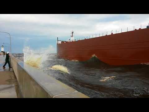 Paul R. Tregurtha takes on gale force winds on Lake Superior June 15th 2014.