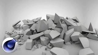 Cinema 4D – Разрушение объектов в Cinema 4D. [Уроки 3D]