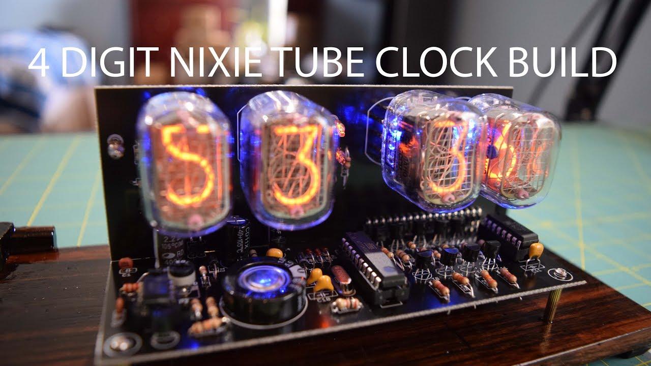 4 Digit IN 12 Nixie Tube Clock Build Using 40 EBay Kit