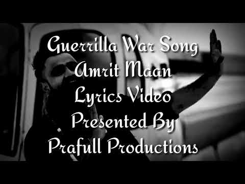 Guerrilla War Song Lyrics Video Amrit Maan Ft DJ Goddess Deep Jandu Sukh Sanghera