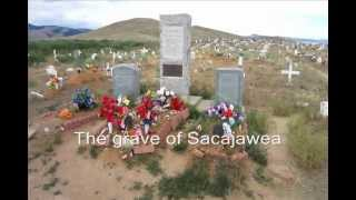 The grave of Sacajawea July 20, 2012