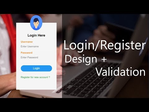 Login/Register Forms - Ui Design And Validate Data | Complete Guide And Tutorial - 5 | Tamil Hacks