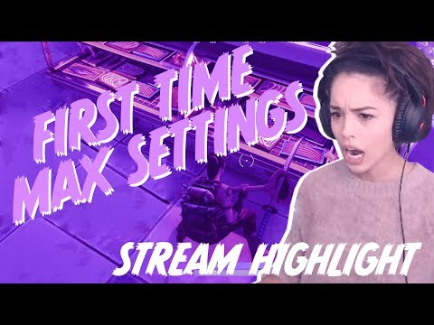 Fortnite Max Settings Reaction! Funny Stream Highlights - Valkyrae