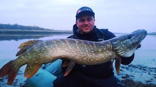 Рыбалка в ноябре на воблеры и крупная щука на один крючок