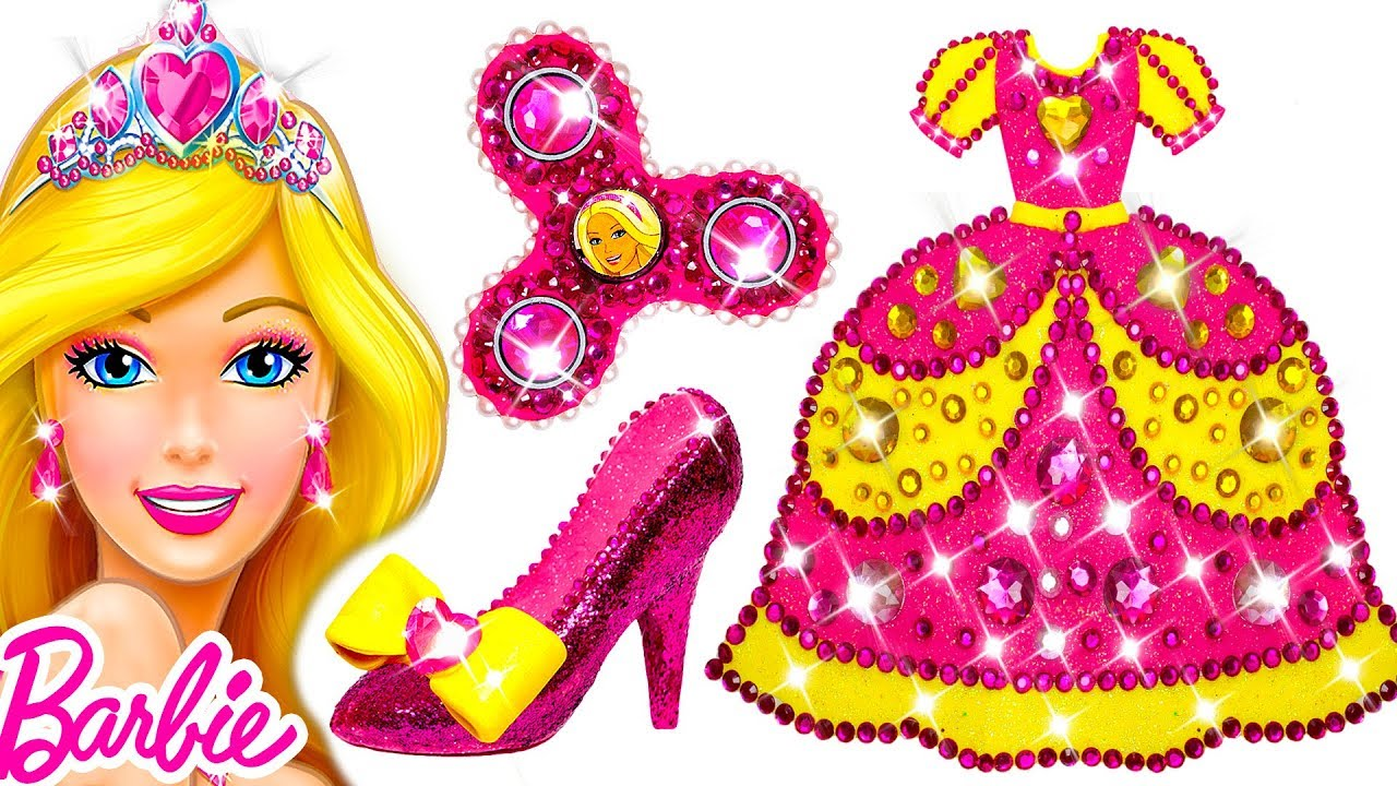 DIY How To Make Super Glitter Play Doh Barbie Princess ...