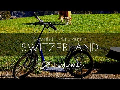 Downhill Trotti Biking in Grindelwald, Switzerland