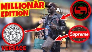 WIE VIEL IST DEIN OUTFIT WERT ? 🔥💸 MILLIONÄR EDITION 💸🔥| STREET UMFRAGE | LION