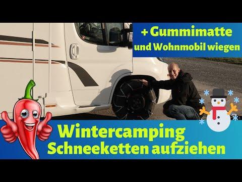 Wintercamping ❄️⛄️ Schneeketten, Gummimatte und wir gehen unseren Peppo wiegen VLOG#55