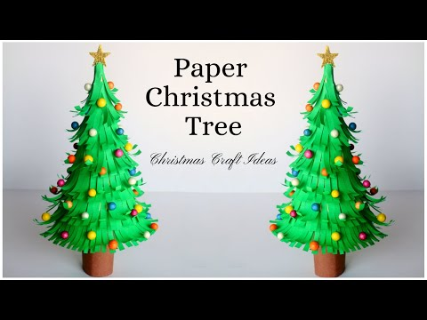 How To Make Paper Christmas Tree ? Paper Craft Ideas for Christmas Decorations