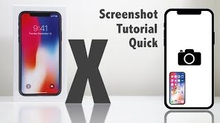 iPhone X - How to take a Screenshot / Picture of the Screen on the iPhone 10