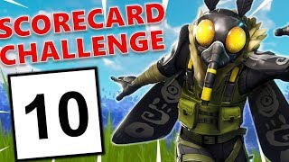 *NEW* Scorecard Challenge - Fortnite Battle Royale Solo Gameplay - Mothmando Skin