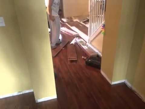 #African Teak #Glossy Finish #Laminate Flooring #South Florida